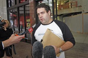 Cameron Slater, aka Whale Oil, faces charges of breaching name suppression. Photo / Sarah Ivey
