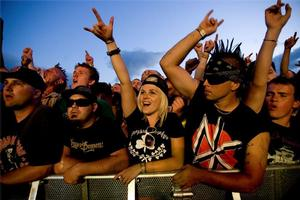 Fans enjoy the Dropkick Murphys at the 2009 Big Day Out concert at Mt Smart Stadium in Auckland. Photo / Dean Purcell
