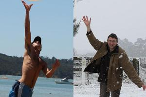 NZ was struck by heatwaves in February and unseasonable snowfalls in October. Photos / Hawke's Bay Today, Dannevirke News
