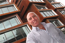 Ludo Campbell-Reid believes the Ironbank building will revitalise the area around Karangahape Rd. Photo / Paul Estcourt