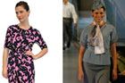 One of the proposed new Air New Zealand uniforms (L); one of the current uniforms (R). Photos / Supplied, Greg Bowker
