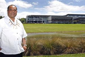 Su'a William Sio says the Villa Maria winery in Mangere is a simple, embracing kind of building. Photo / Sarah Ivey
