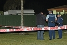 The man shot last night is understood to have lived in this caravan down a right-of-way. Photo / Natalie Slade