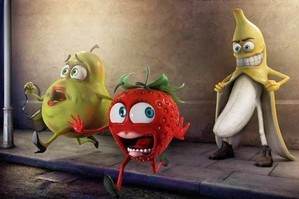A pear and strawberry run from the banana. Photo / Supplied