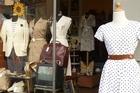 Vintage fashion at Navigli market. Photo / Zoe Walker.