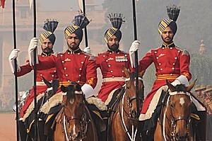 A changing of the guards ceremony is held near Parliament House. Photo / Liz Light