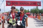 Lisa Tamati with Danny Parr after the Gobi event. Photo / Supplied