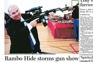 A Rambo-like Rodney Hide was pictured at the show in 2005. Photo / APN