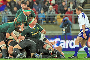 SARU believes the Springboks are the victims of biased officials and judges. Photo / Getty Images