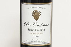 2007 Clos Cantenac Saint-Emilion Grand Cru, $70. Photo / Steven McNicholl