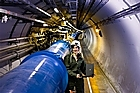 The 27km Large Hadron Collider at Cern's particle physics laboratory. Photo / Supplied