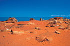 View dinosaur footprints at Gantheaume Point near Broome. Photo / Tourism Western Australia