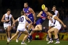 AFL match between the Western Bulldogs and the Fremantle Dockers in Melbourne, Australia. Photo / Getty Images