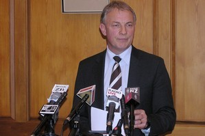 Labour Party Phil Goff at today's press conference, where he announced the suspension of MP Chris Carter. Photo / NZPA
