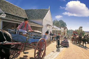 Sovereign Hill outdoor museum, at Ballarat, Victoria, allows visitors to experience what life was like in an 1850s gold mining town. Photo / Supplied