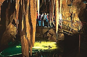 The Pool of Cerebus Cave at Jenolan Caves in Sydney's Blue Mountains. Photo / Supplied