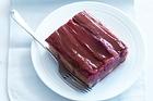 Rhubarb upside-down cake. Photo / Chris Court
