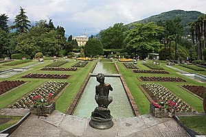 An immaculate floral display at Verbania's Taranto Gardens. Photo / Paul Rush