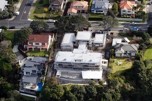 Tim Williams is having the multimillion-dollar clifftop mansion built near his old school, Takapuna Grammar. The size of the project has left neighbours agog. Photo / Dean Purcell