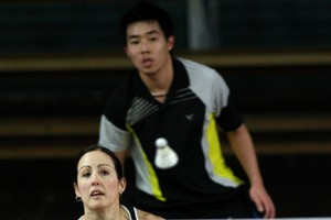 The mixed doubles combination of Donna Haliday and Henry Tam has the best prospects in New Delhi. Photo / Natalie Slade