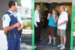 Bank robberies are no laughing matter. Or are they? Photo / Bay of Plenty Times