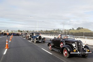 The official opening of the SH20 Manukau Harbour Crossing. Photo / NZPA