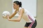 Anna Scarlett is back on the training court with the Silver Ferns for the first time in three years. Photo / Paul Estcourt