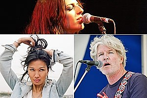 Most Kiwi pop stars like (clockwise from top) Brooke Fraser, Tim Finn and Boh Runga sing with American accents, according to new research. Photos / Hawkes Bay Today, NZ Herald, supplied.