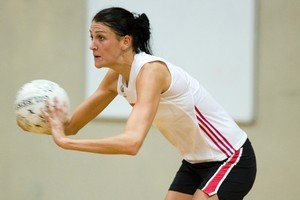 Anna Scarlett trained with the Silver Ferns this week for the first time in three years. Photo / Paul Estcourt