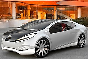 Solar cells in the roof of the Kia Ray concept could be used to produce fuel. Photo / Supplied