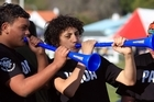 The vuvuzela makes its Bay of Plenty rugby debut. Photo / APN