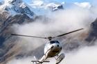 The Harris Mountains Heli-ski helicopter. Photo / Doug Sherring