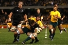 Richie McCaw scored a try down the blindside while the All Blacks were reduced to 14 men. Photo / Getty Images