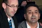 David Bain and Joe Karam after Mr Bain was found not guilty. Photo / Simon Baker