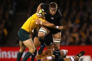 Brad Thorn had a typically busy test last night. Photo / Getty Images