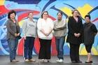 Solo mums, from left Karren McRae, Christine Clausen, Katrina Hill, Raewyn Patuwai, Teena Archer and Angela Opai. Photo / Greg Bowker