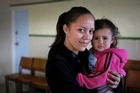 Sole mother Kelly Heremaia, 28, with daughter Hikianna, 19 months. Photo / Steven McNicholl