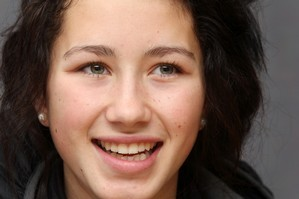 Olivia O'Neil with the dyed brown hair that lost her the crown. Photo / Wanganui Chronicle