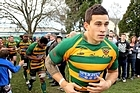Sonny Bill Williams runs out onto the field for Belfast for the Canterbury Club Rugby match. Photo / Getty Images