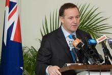 Prime Minister John Key in Vanuatu. Photo / Mark Mitchell