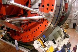 The giant elevation track at Arizona's impressive Large Binocular Telescope. Photo / Wikimedia Commons
