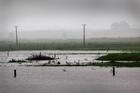 One of the many flooded paddocks around the Bay of Plenty. Photo / NZPA