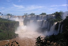 Iguazu Falls, located mostly in Argentina, are a full day's adventure that offers plenty of thrills and spills. Photo / Flickr