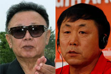 Kim Jong-Hun (right) has reportedly been sentenced to hard labour. Photos / AP