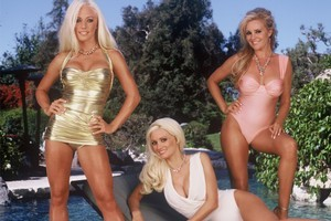 Keeping it clean for the iPad. 'Girls of the Playboy Mansion' reality show original cast. (L to R) Kendra Wilkinson, Holly Madison andBridget Marquardt. Photo / Supplied