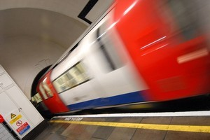 The first air-conditioned train on the London Underground network was launched on the Metropolitan line last week. Photo / AFP