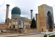 Sights such as the tomb of Tamerlane in Samarkand make visiting Uzbekistan rewarding. Photo / Jim Eagles