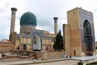 Sights such as the tomb of Tamerlane in Samarkand make visiting Uzbekistan rewarding. Photo / Jim Eagles