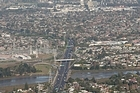Southern Motorway, Otahuhu and Otara with Manukau in the Background. Photo / NZ Herald