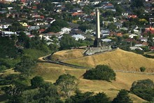 Aerial view of One Tree Hill.